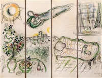 paravent, paris by marc chagall