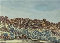 untitled (rock formations at mt sonder) by otto pareroultja
