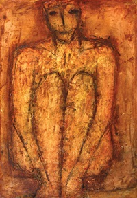 untitled - seated figure by john emanuel