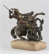 saint georges terrassant le dragon by l. perzurka