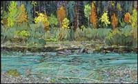 fall on baker's creek, kananaskis by ted godwin