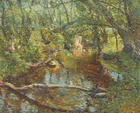 sunlight brook by childe hassam