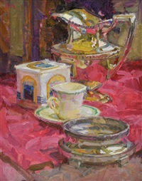 still life with pitcher and cup by mark daily