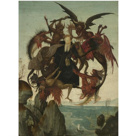 the temptation of saint anthony by domenico ghirlandaio
