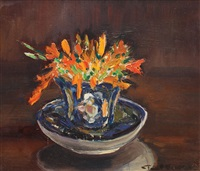 vase with crocus by paul verona