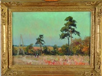 paysage d'automne by narcisse henocque