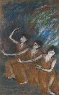 trois danseues by edgar degas