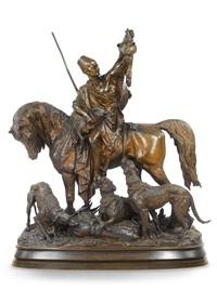 kabyle au retour de la chasse by arthur waagen