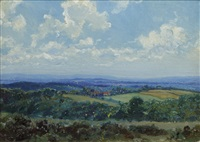 the south downs from the forest ridge (pair) by louis ginnett
