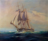 the whaler dauphin our of nantucket by frank vining smith