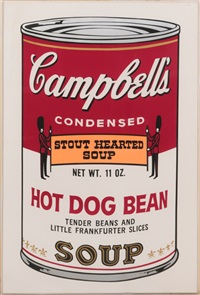 hot dog bean (from campbell's soup ii) by andy warhol