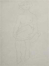 femme assise de face, genoux repliés, dite psyché by auguste rodin