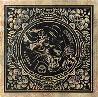 attack in black by shepard fairey