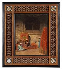 arabischer basar mit schuh- und teppichhändlern by voitler billney