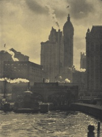 the hand of man and the city of ambition (2 works from camera work no. 36) by alfred stieglitz