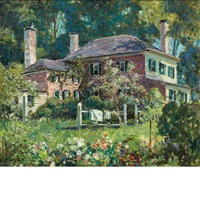 house and garden (june morning, kennebunk) by abbott fuller graves