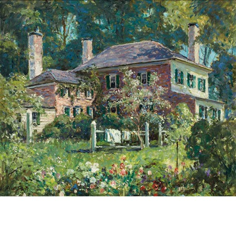 house and garden june morning kennebunk by abbott fuller graves