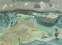 afternoon, earlyvale, peebleshire by william george gillies