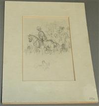 general zu pferd by alfred kubin