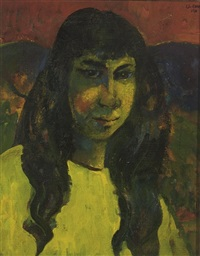 young lady by liu kang