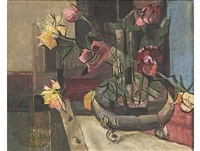 still life with roses by sidney goldblatt