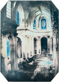 intérieur de l'église saint-sulpice by charles choiselat and stanislas ratel