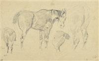 étude de chevaux by eugène delacroix