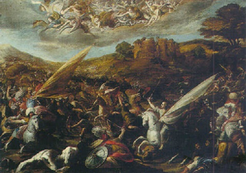 saint james vanquishing the saracens at the battle of clavijo by hispano flemish school 17