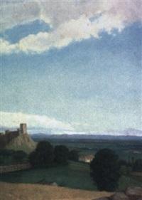 paisaje con castillo by fernando labrada