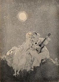 moonstruck by norman alfred williams lindsay