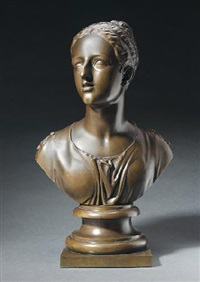 bust of woman by alexander handyside ritchie