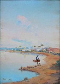 méhariste au bord de l'eau by paul alexandre alfred leroy