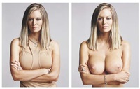 jenna jameson - clothed/nude (diptych) by timothy greenfield-sanders