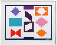 design iv, silkscreen by yaacov agam