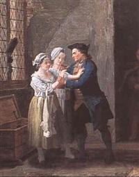 scène d'auberge by leonard de france
