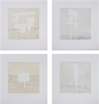blank signs (set of 4) by ed ruscha