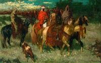 orientalische reiter by otto von faber du faur