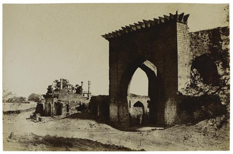 gateway for the nukar khana of nawab mustafa khans palace india by thomas biggs