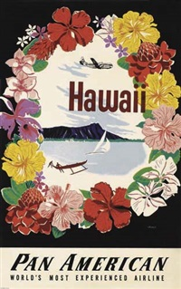hawaii/pan american (poster) by a. amspoker