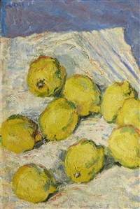 still life with lemons by henryk gotlib