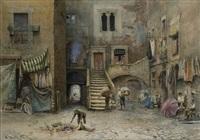 roma, scena di vita al ghetto by ettore roesler franz