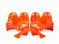 6 'panton chair' cantilevers by verner panton