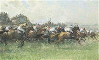 tattenham corner, the epsom derby by gilbert holiday