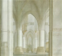 the interior of the sint bavokerk, haarlem by pieter janz saenredam