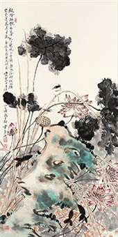 绿塘摇艳 by jia guangjian