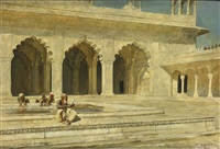the pearl mosque, agra by edwin lord weeks
