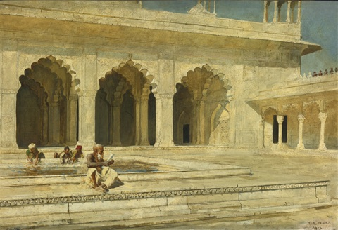 the pearl mosque agra by edwin lord weeks