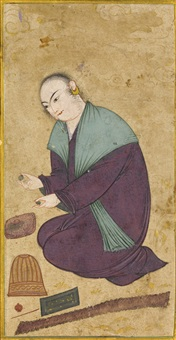 a portrait of a sufi by muin musavvir