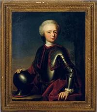 portrait of johan reinhard burchard van rechteren wearing armor by gerard jan palthe