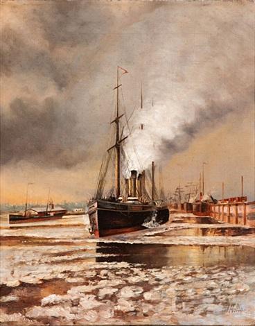 port scene by lev felixovich lagorio